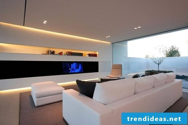 Living room modern design indirect LED lighting