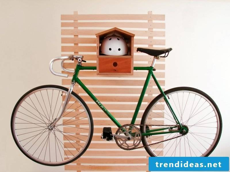 Bicycle mount for wall idea