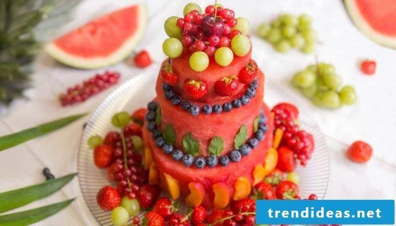 Fancy pies fruit decoration