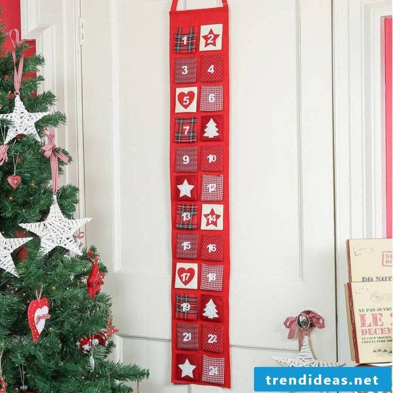 Sew Advent calendar and use as decoration