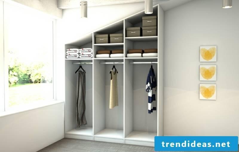closet sloping wardrobe to measure