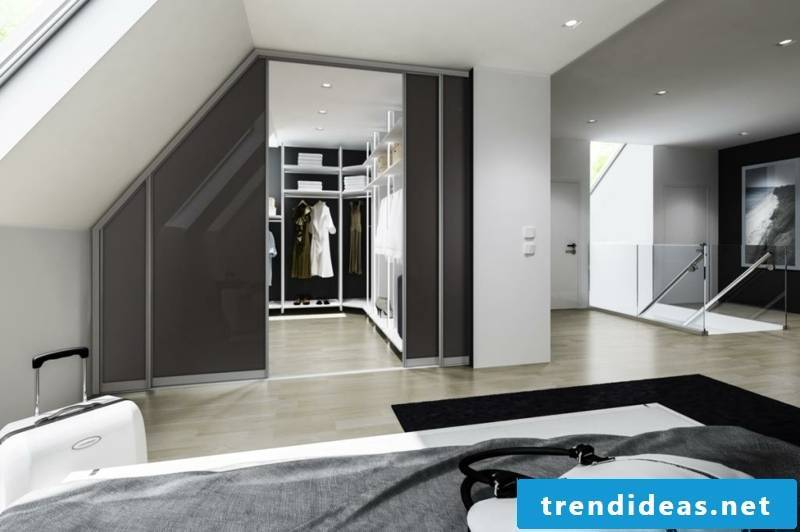 closet sloping bedroom