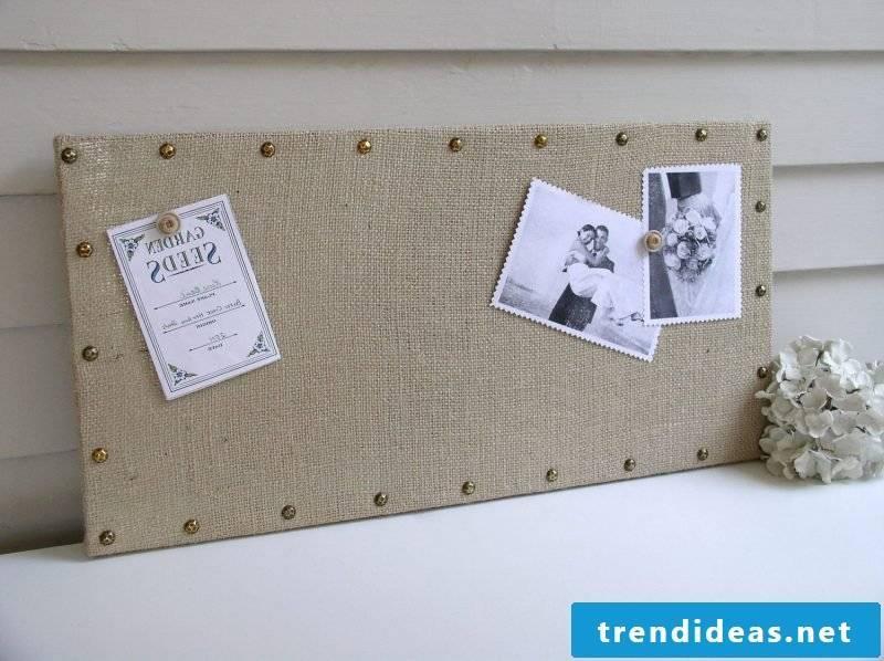 Memoboard itself make fabric DIY idea