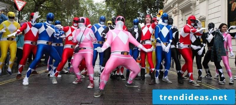 carnival group costumes power rangers
