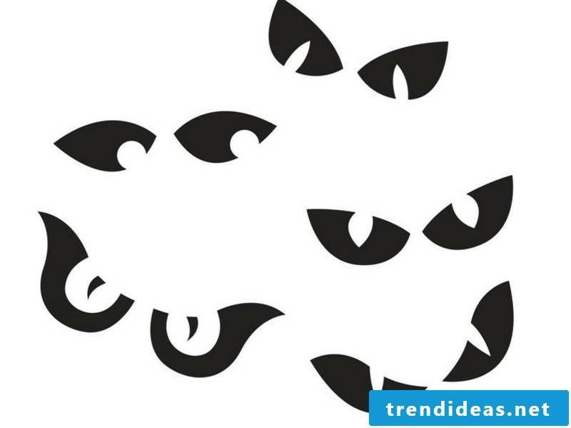 Halloween pumpkin carving templates eyes