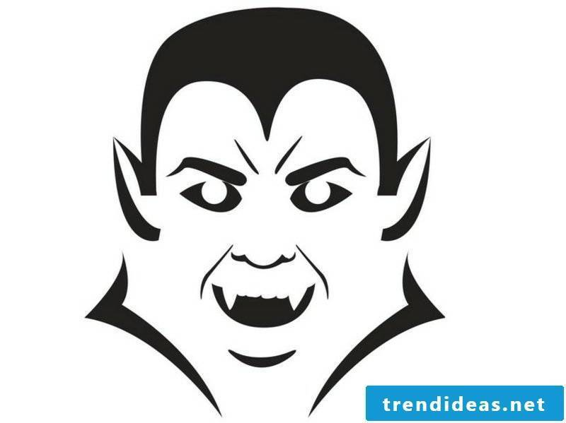 Halloween pumpkin carving templates Dracula