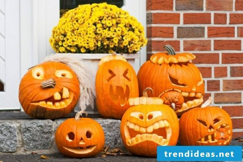 Pumpkin Face Funny Decoration Ideas Halloween
