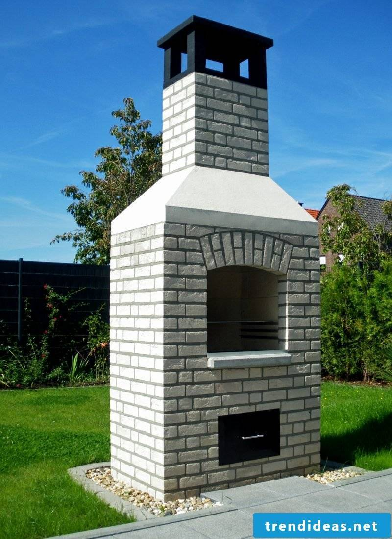 big brick garden barbecue interesting design