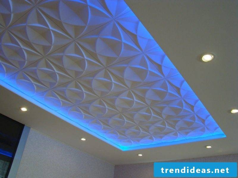 ceiling paneling illuminated