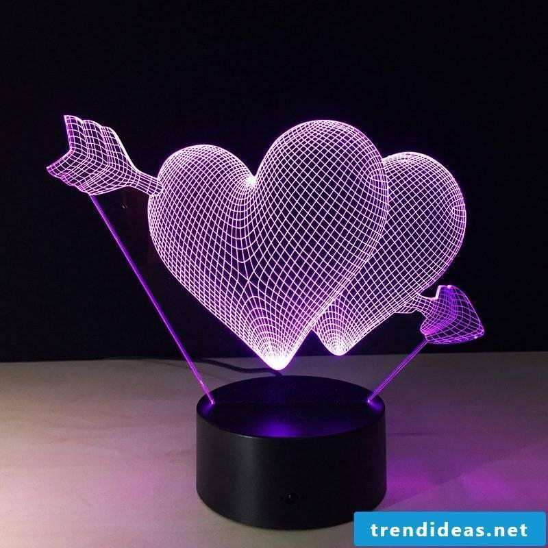 Choose this Valentines lamp!