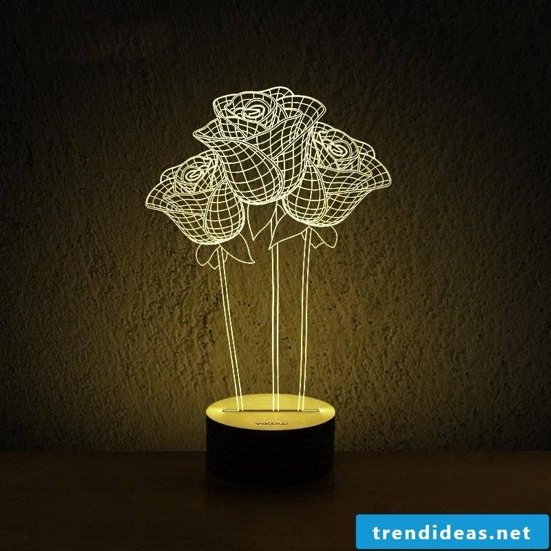 This valentines lamp looks gorgeous, right!