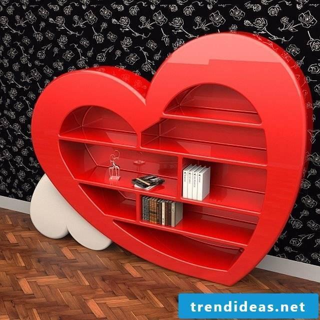 Bookshelf for Valentine's Day!
