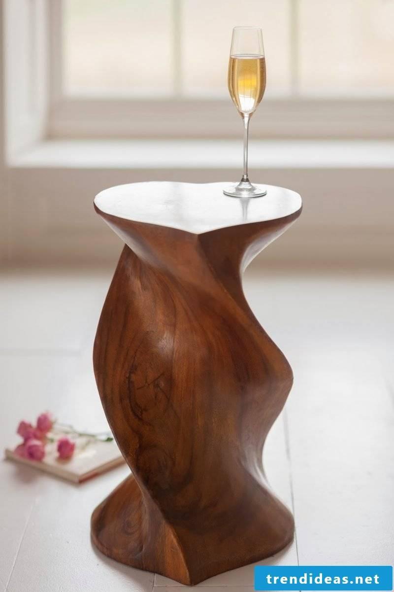 Coffee table in heart shape!