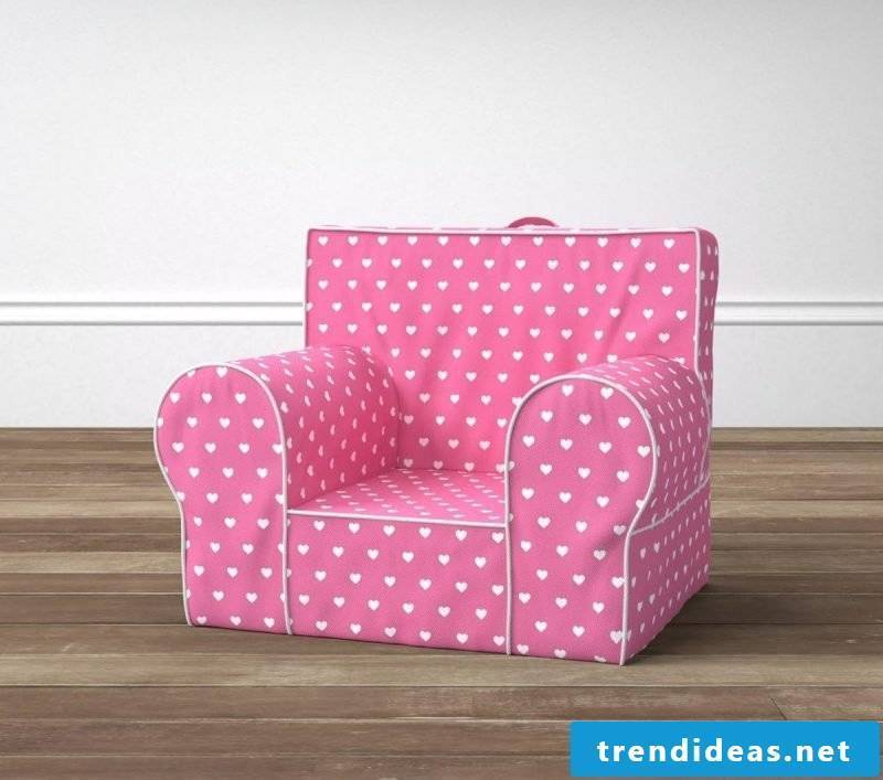 Pink armchair for Valentine's Day!