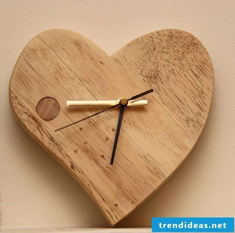Wall clock in heart shape!