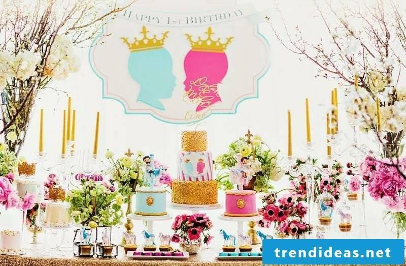 Children's birthday decoration itself make girls princess