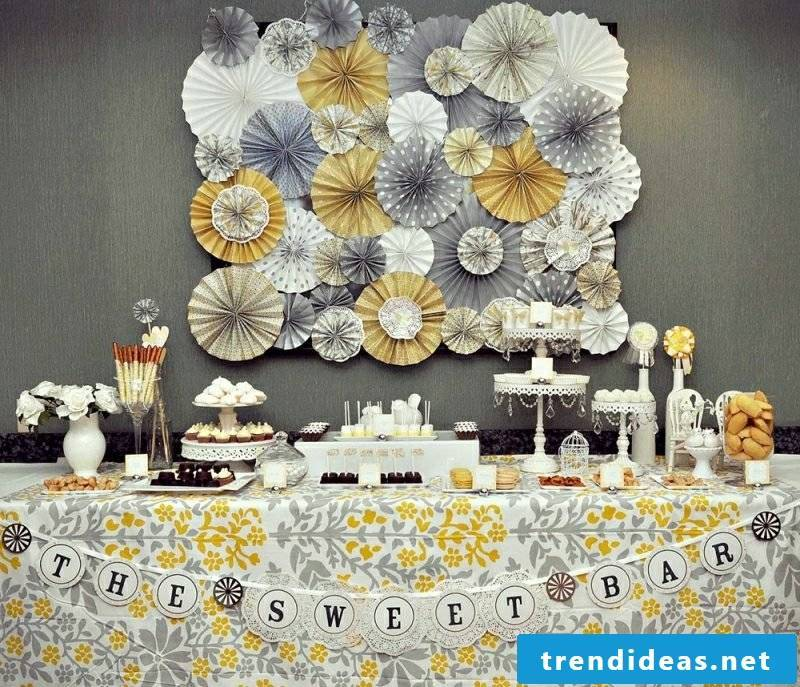 great crafting ideas kids birthday decoration in vintage style