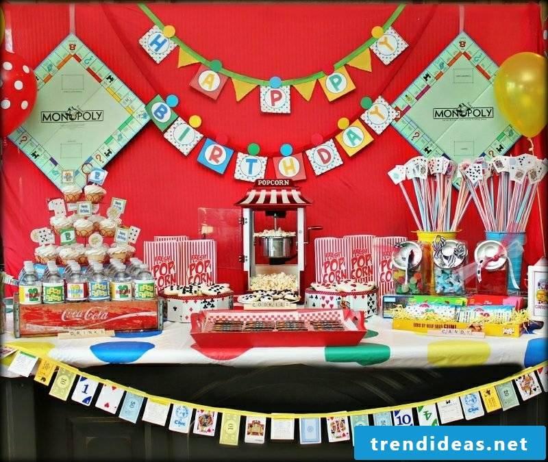 Children's birthday celebrate decorating ideas for self-flagellation