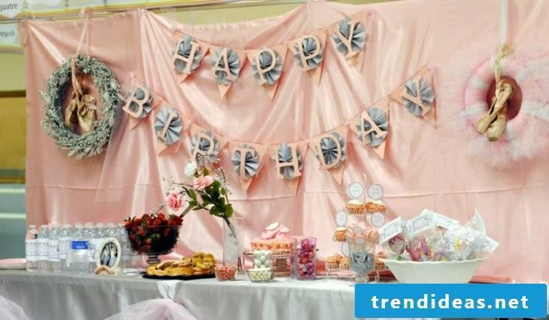 Crafting ideas Children's birthday decoration