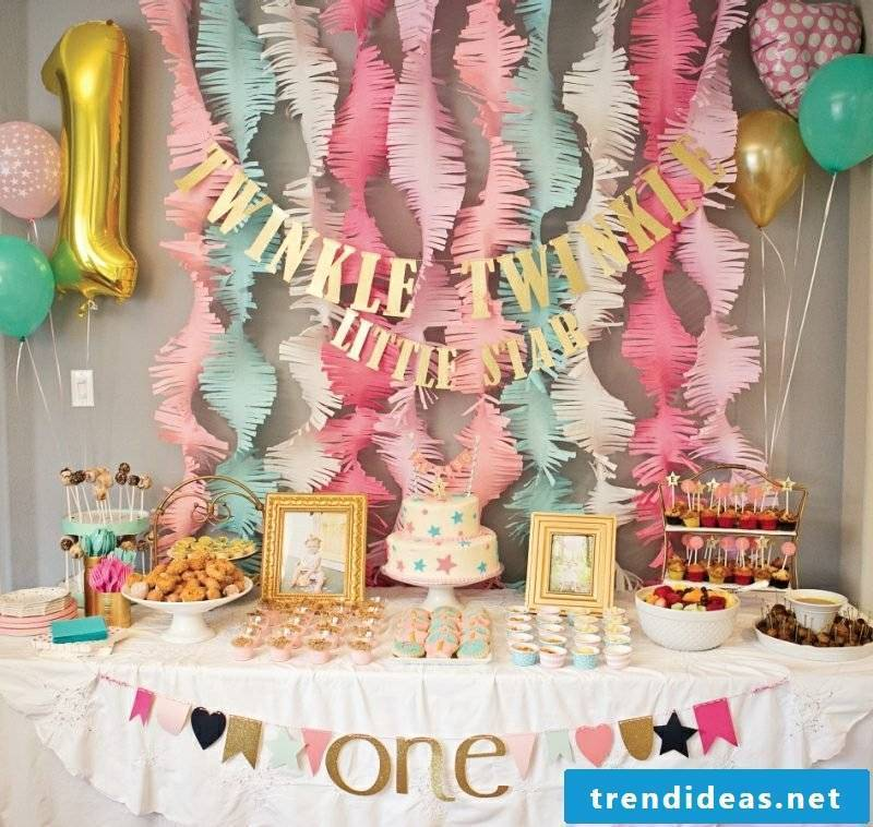 Children's birthday decoration make great paper garlands