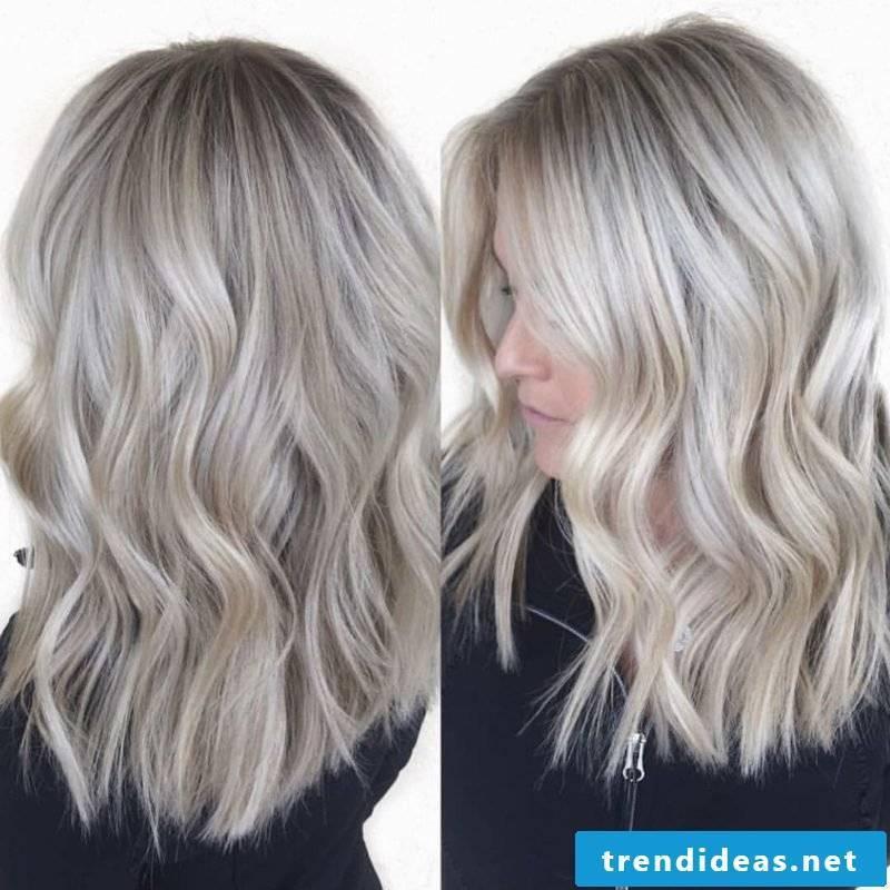 Blond tones ash blond balayage