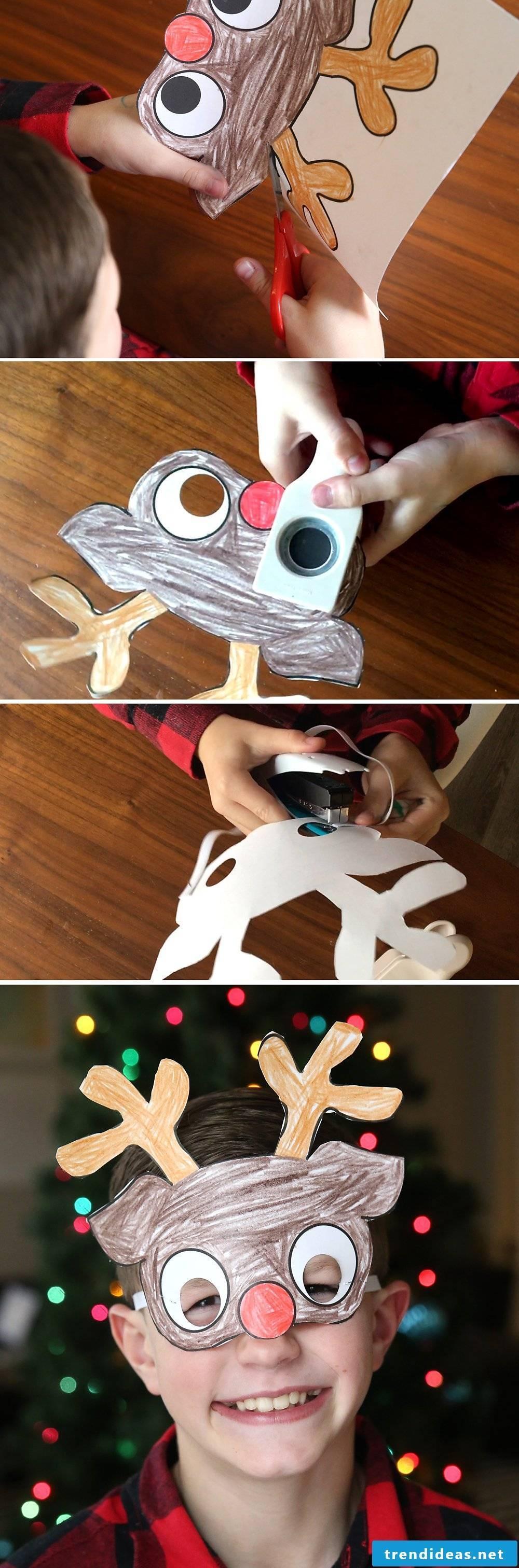 Craft Ideas Christmas - make masks