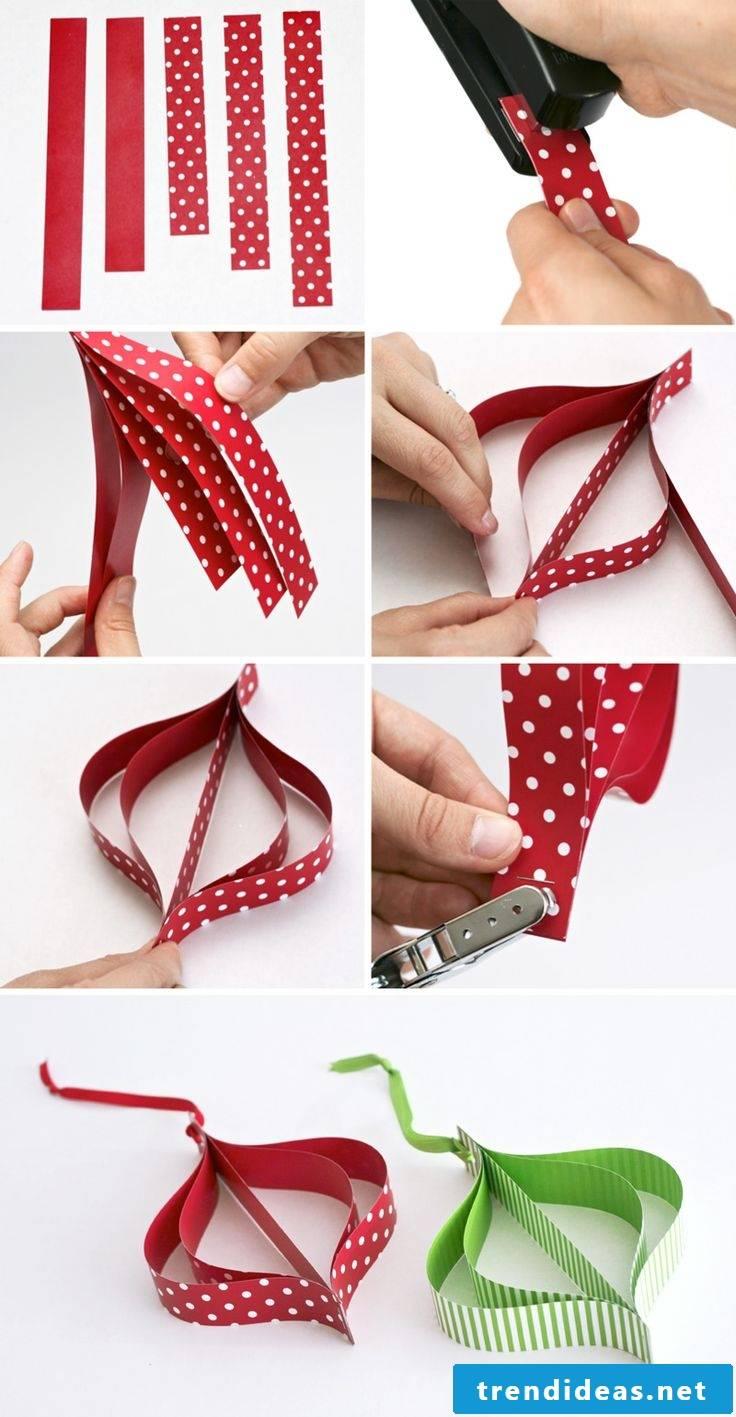 Make Christmas paper tags yourself