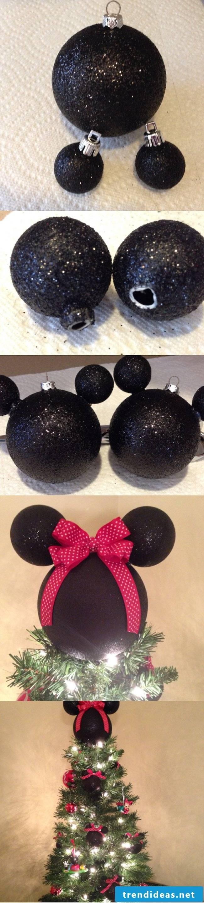 Make Disney Christmas pendants yourself