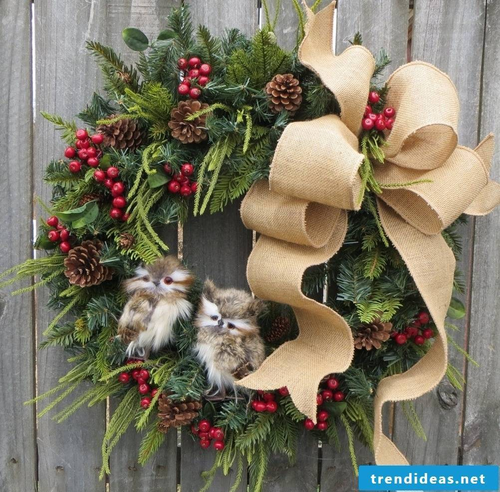 Pretty Christmas wreath as door decoration