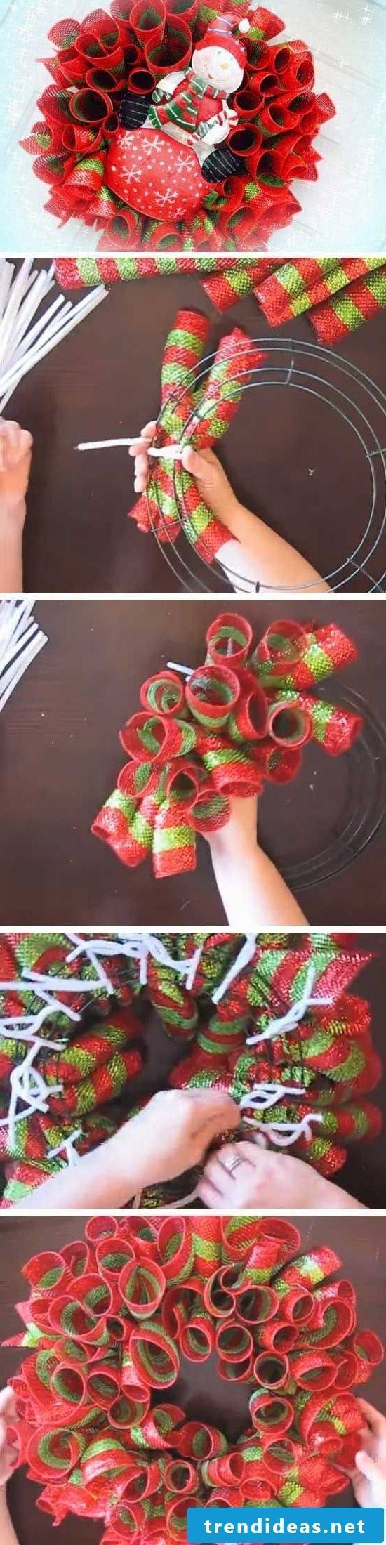 Net grinding wreath