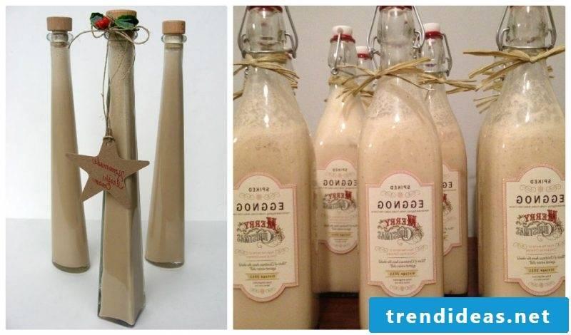 Nicholas gift for friend Christmas liqueur DIY eggnog