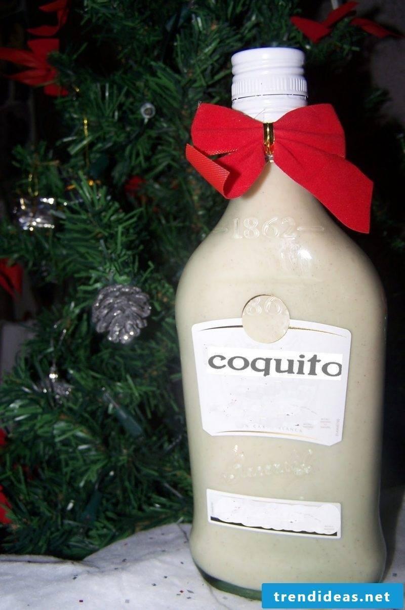 Nicholas gift for friend Christmas liqueur Cocquito