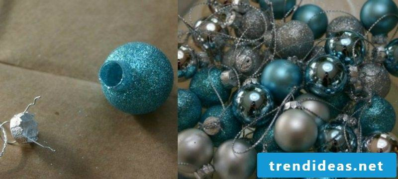 Christmas crafts Wreath of balls