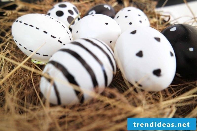 dye eggs white