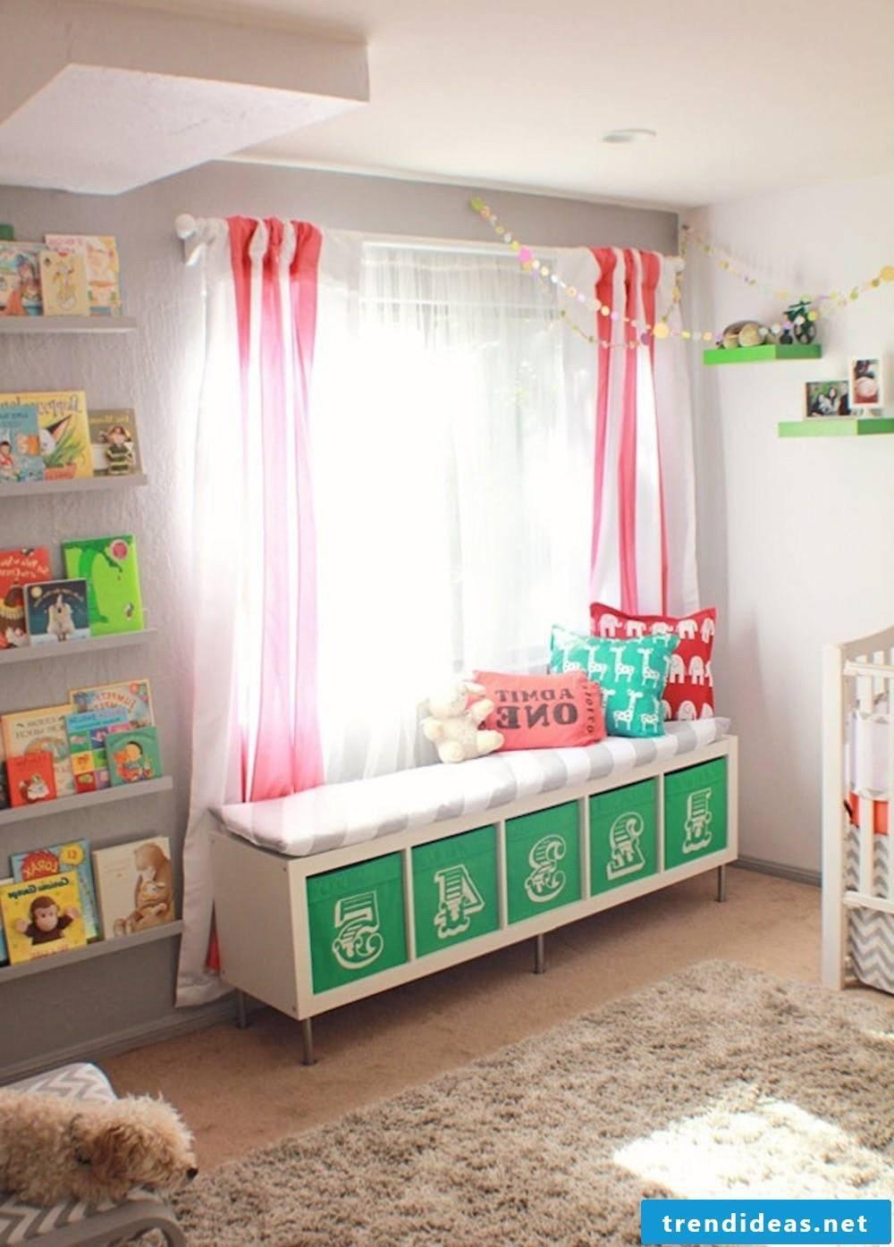 DIY window couch from Ikea cabinets - Ikea Besta shelf or bookshelf