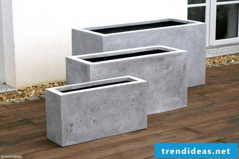 rectangular flower tub concrete