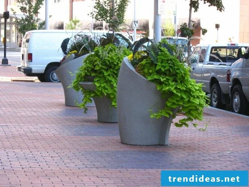 Planter made of concrete unusual design