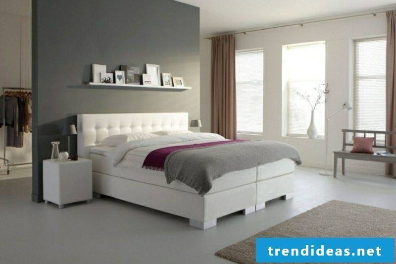 elegant box spring white quilted headboard
