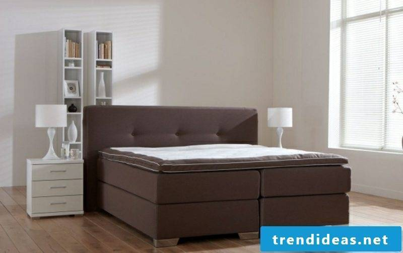 Boxspring high upholstery in chocolate brown
