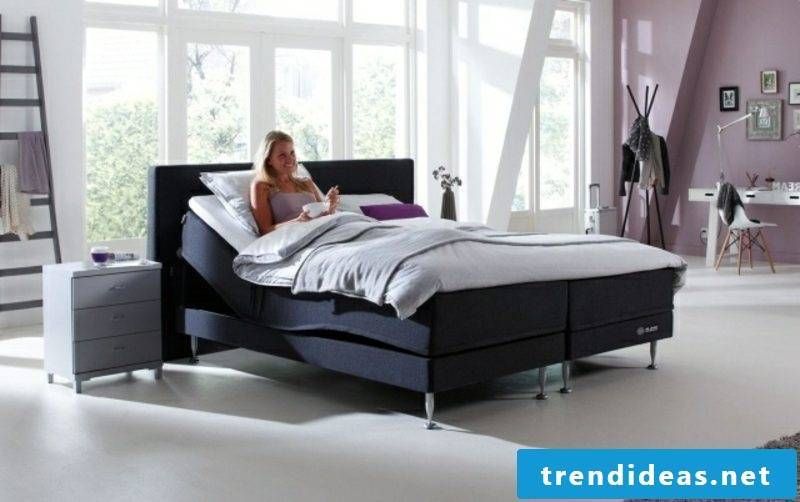Construction of boxspring bed Advantages of high sleeping comfort