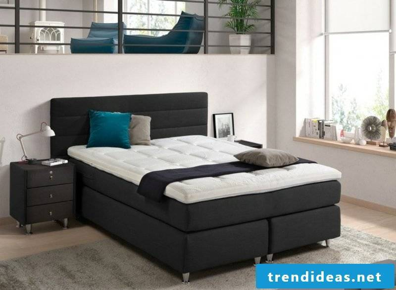 black box spring bed with high head part attractive look
