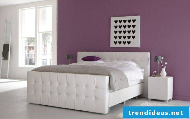 Boxspring bed in the youth room original model in white