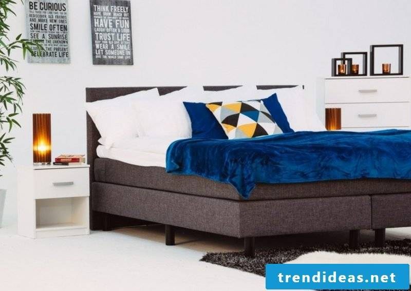 Boxspring bed gorgeous design fabric upholstery