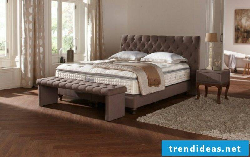 high box spring upholstered modern look