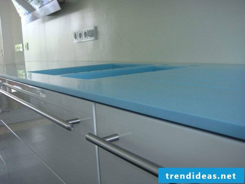 corian countertop blue