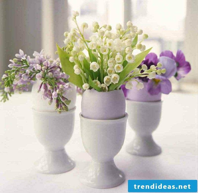 Craft Ideas Spring Easter Table Decoration Flowers