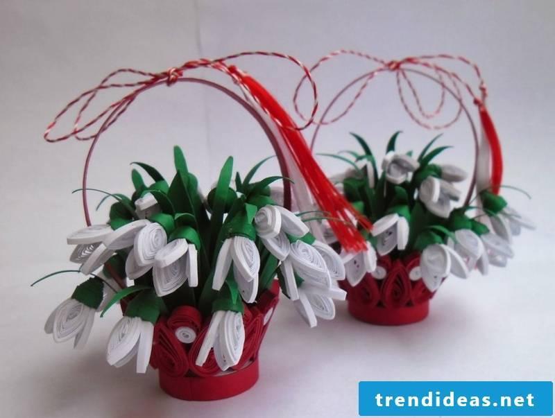 Craft Ideas Spring snowdrops make yourself
