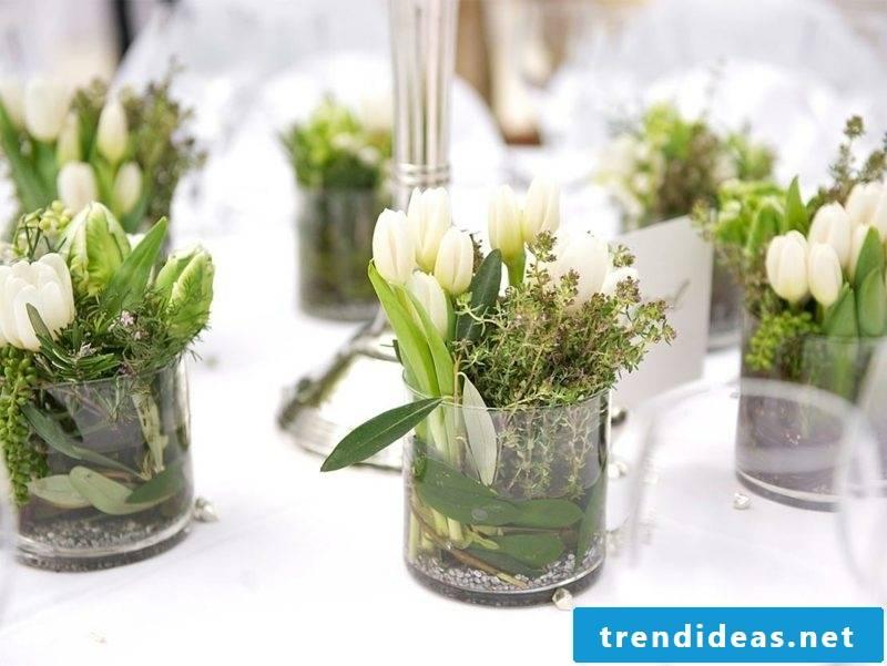 Crafting ideas arrange spring flowers