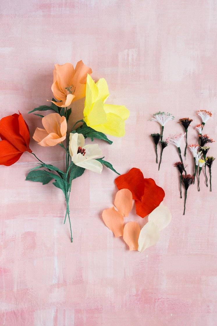 Making flowers from paper: Instructions for poppies