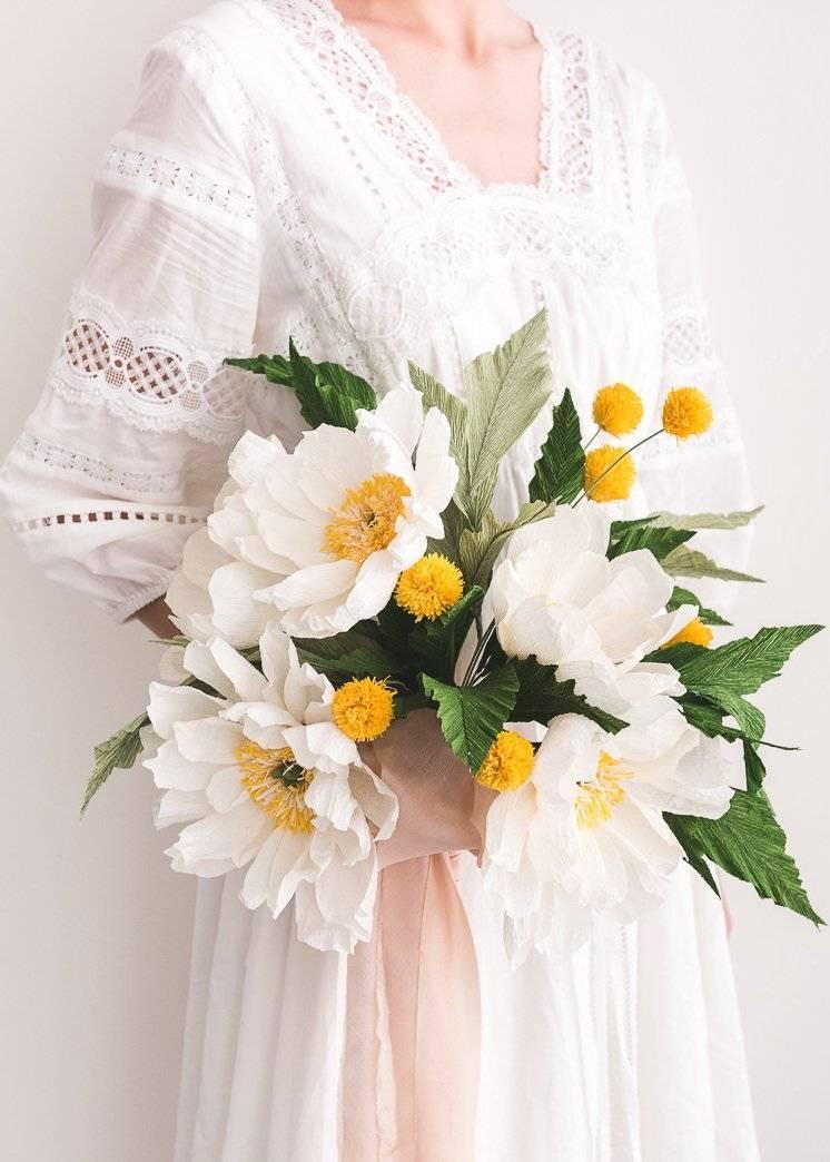 Beautiful craft ideas for the wedding: Make a fulminanten bouquet of paper